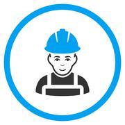 Glad Worker Icon - stock illustration