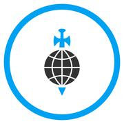 Global Guard Icon Stock Illustration