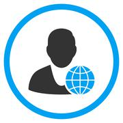 Global Manager Icon - stock illustration