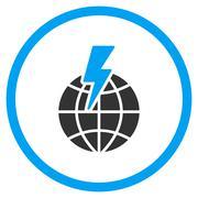 Global Shock Icon Stock Illustration