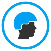 Stock Illustration of Soldier Helmet Icon