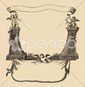 Cartouche_3 - stock illustration