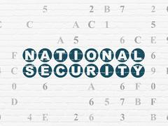 Safety concept: National Security on wall background Piirros