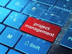 Stock Illustration of Finance concept: Project Management on computer keyboard background
