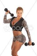 Female Bodybuilder - stock photo
