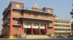 The building of the monastery Stock Footage