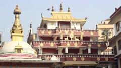 Roof of Buddhist monastery Stock Footage