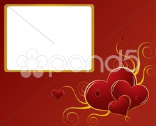Valentines abstract background - stock photo