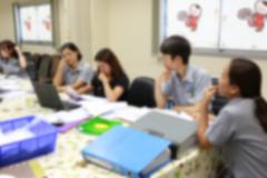 Blur style of business people were consultation. - stock photo