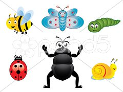 Happy insects - stock photo