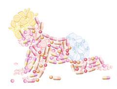 Pills Medicine Baby Stock Illustration