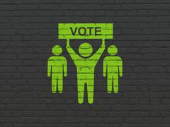 Stock Illustration of Politics concept: Election Campaign on wall background