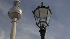 Static shot of Fernsehturm in Alexanderplatz Stock Footage