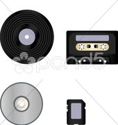 Music evolution - stock photo