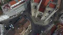 Santa Maria Maior (or Se Cathedral), Lisbon, Portugal Stock Footage