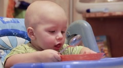 Healthy eating for a baby - stock footage