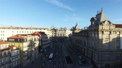 Sao Bento and Almeida Garret Square - Portugal Stock Footage