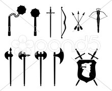 Medieval Weapons Set - stock photo