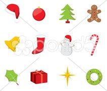 Christmas Icons Stock Photos