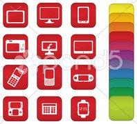 Screen Icons Stock Photos