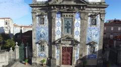 Church of Saint Ildefonso, Porto, Portugal Stock Footage