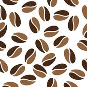 Seamless coffee beans Stock Illustration