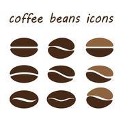 Set coffee beans Stock Illustration