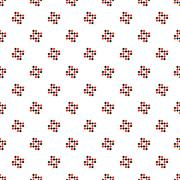 Cross stitch seamless vector pattern - stock illustration