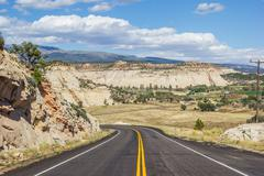 Scenic byway 12 near Boulder in Utah Stock Photos