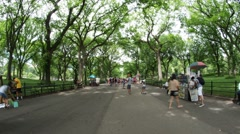 Hyperlapse of Central Park in New York City Manhattan Time lapse - stock footage