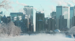 Calgary on a cold winter's morning. Stock Footage