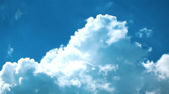 white clouds and blue sky. timelapse. - stock footage