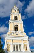 The bell tower of Holy Trinity Seraphim-Diveevo monastery, Russia - stock photo