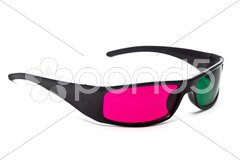 3D Glasses on White Background Stock Photos