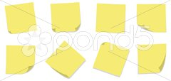 Plain Yellow Sticky Notes - stock photo