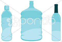Vector Bottles Stock Photos