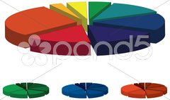 Colorful Pie Chart - stock photo