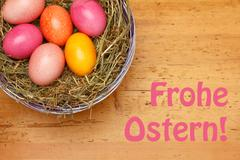 Happy Easter german Frohe Ostern - stock photo