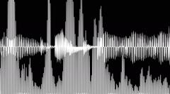 Audio waveform and spectrum animation Stock Footage