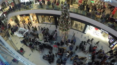People At The Mall Stock Footage