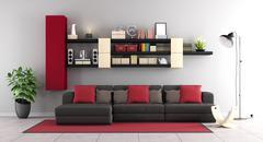 Contemporary living room - stock illustration