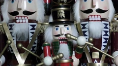 Nutcracker Soldier Musical Box drummer Christmas Decorations Stock Footage