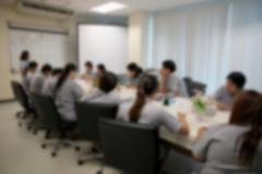 Blur style of business people were consultation. Stock Photos