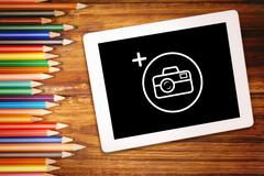 Composite image of photography apps - stock photo