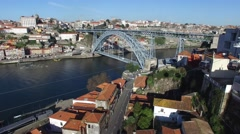 Dom Luis Bridge, Porto, Portugal Stock Footage