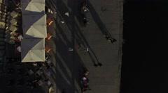 Top View of Ribeira Sidewalk, Porto, Portugal Stock Footage