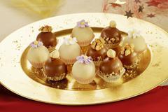 Christmas Chocolate Truffles - stock photo
