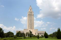Louisiana State Capitol Baton Rouge Stock Photos