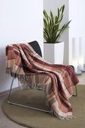 Plaid draped over a chair Stock Photos