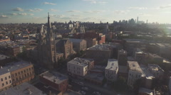 Aerial shot of Brooklyn, New York, United States Stock Footage